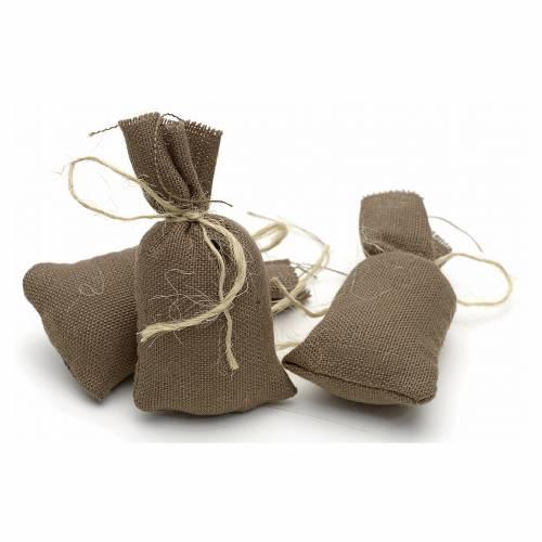 Nativity accessory, set of 3 cloth sacks H7cm s1