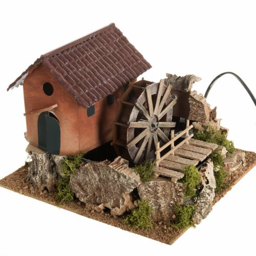 Nativity accessory, watermill with house 24x29x29 cm s1