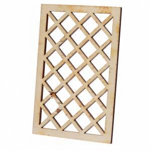 Balustrade, doors, railings: Nativity accessory, wooden bars 9.5x6cm