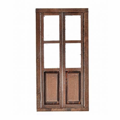 Nativity accessory, wooden double door 17x8cm s1