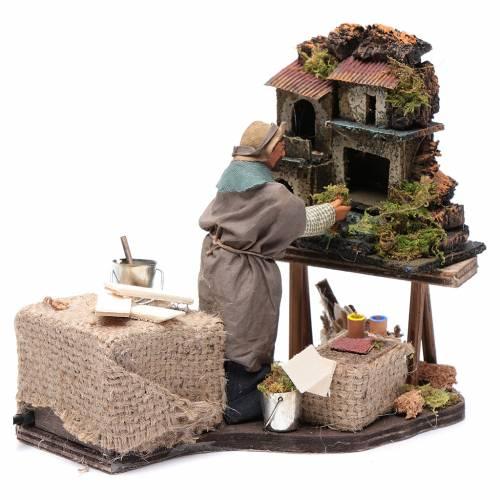 Nativity artist, animated Neapolitan Nativity figurine 12cm s3