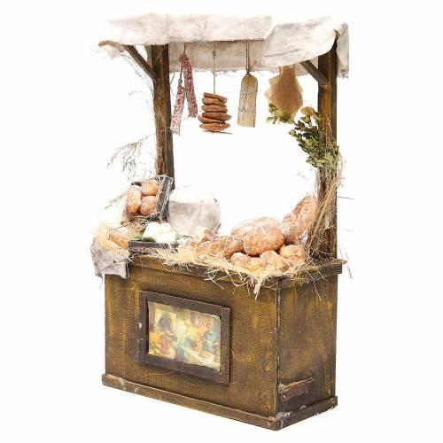Nativity baker's stall in wax, 40x25x10.5cm s2