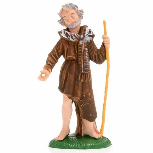 Nativity figurine, beggar with stick, 8 cm s3
