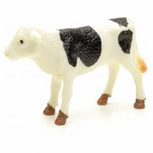 Nativity figurine, black and white calf 10 cm s2