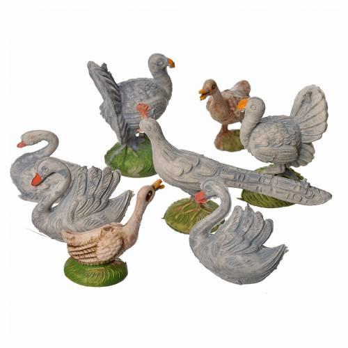 Nativity figurine, gallinaceans, 8 pcs 9-13 cm s2