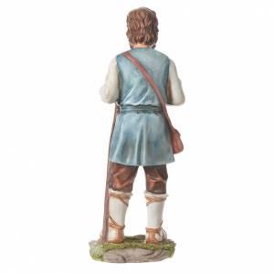 Nativity figurine, shepherd with pole, 30cm resin s6