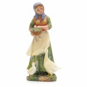 Nativity Scene figurines: Nativity figurine, shepherdess with ducks 21cm