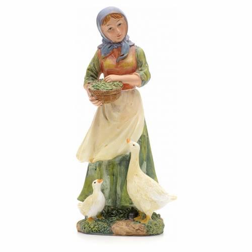 Nativity figurine, shepherdess with ducks 21cm s1