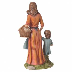 Nativity figurine, woman with little boy, 30cm resin s6