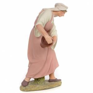 Nativity figurine wood pulp shepherdess with amphora, 30cm (fine s2