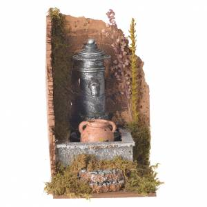 Fountains: Nativity fountain with amphora 16x10x15cm