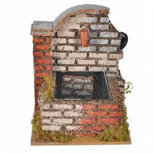 Nativity fountain with water pump measuring 13x10x12cm s1