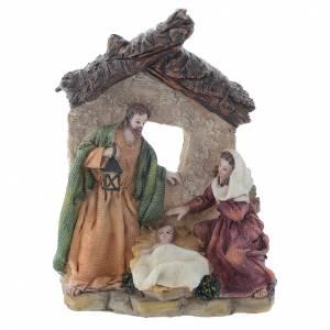 Nativity in multicoloured resin measuring 15cm s1