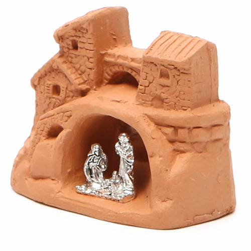 Nativity natural terracotta 6x7x4cm s2