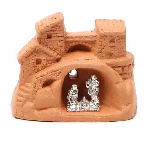 Nativity natural terracotta 6x7x4cm s1