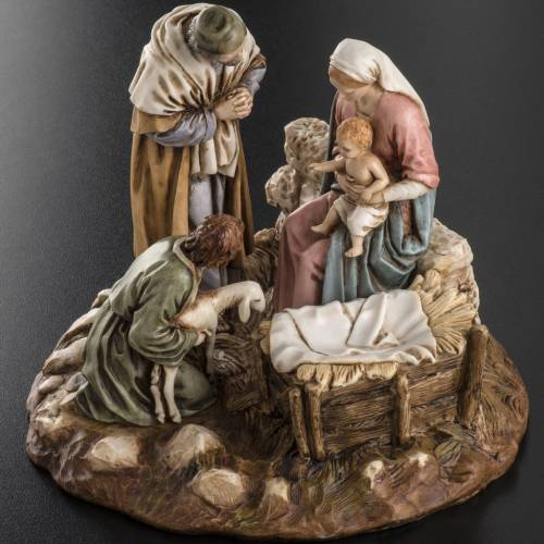 Nativity on base by Landi, 16 cm s9