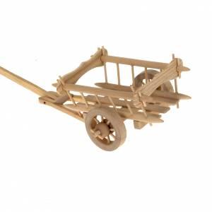 Miniature tools: Nativity scene accessory, wooden cart 8x7 cm