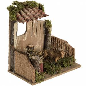 Nativity scene figurine, cow in the cattle shed s2