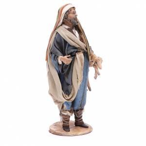 Nativity scene figurine, good shepherd 18cm, Angel Tripi s4