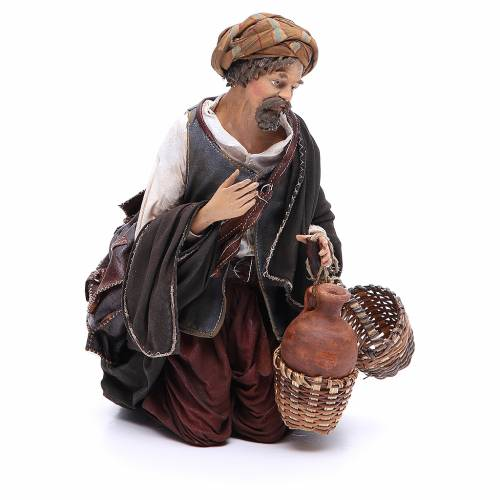Nativity scene figurine, shepherd 30 cm, Angela Tripi s4