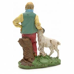 Nativity scene figurine, shepherd with sheep 10cm s2