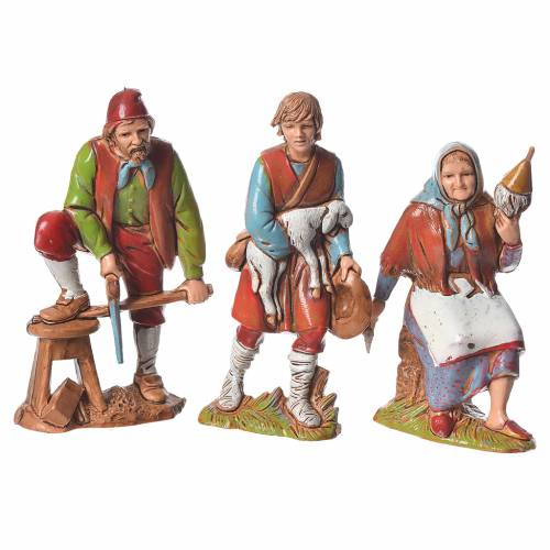 Nativity Scene figurines 8cm, working characters 8pcs s3