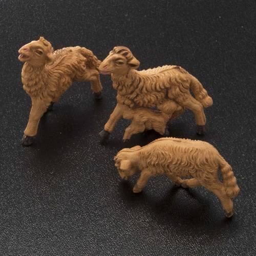 Nativity scene figurines, brown sheep 10 pieces 8 cm s2