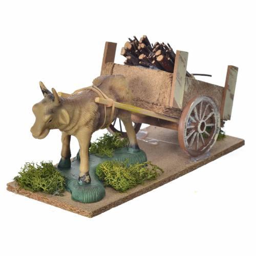 Nativity scene figurines, ox, cart s2