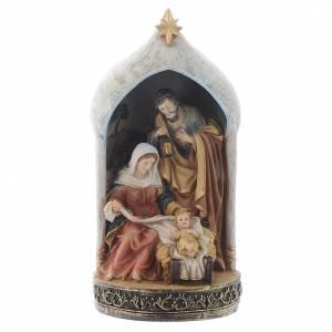 Nativity sets: Nativity scene in resin measuring 18cm