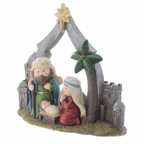 Nativity scene in resin measuring 28cm s2