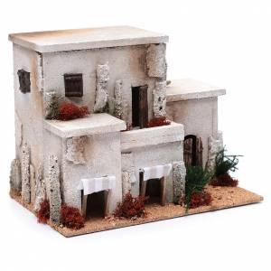 Settings, houses, workshops, wells: Nativity scene minaret25x30x20