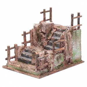 Nativity scene staircase with railing 15x15x20 cm s2