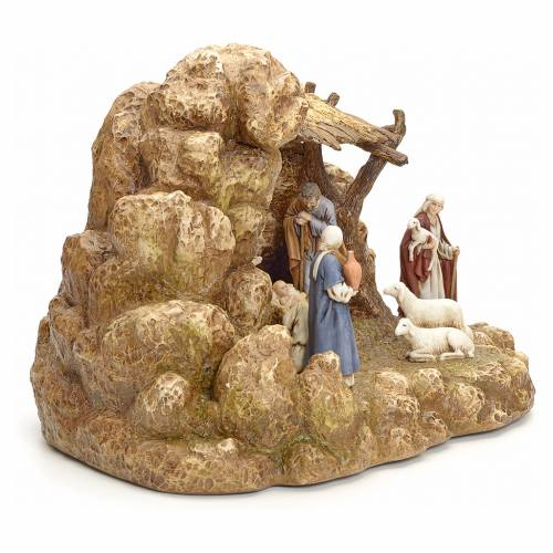 Nativity scene with stable by Landi, 11cm 3