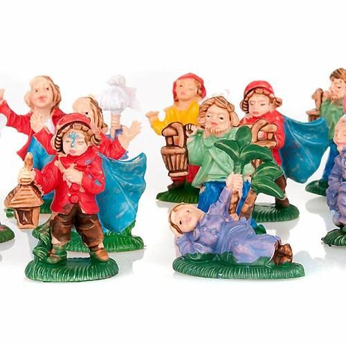 Nativity set accessory, 12 shepherds figurines 3cm s2