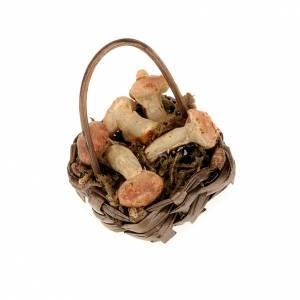Nativity set accessory, basket of mushrooms s1