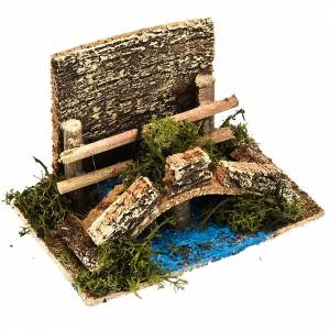Nativity set accessory, bridge over stream with fence s1