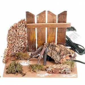 Nativity set accessory, electrical fire for the crib s1
