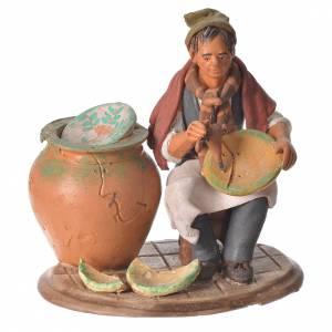 Terracotta Nativity Scene figurines from Deruta: Nativity set accessory, terracotta craftsman figurine, 18cm