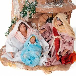 Terracotta Nativity Scene figurines from Deruta: Nativity set clay hip-tile