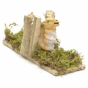Animals for Nativity Scene: Nativity Scene figurine, camel with wood 10cm