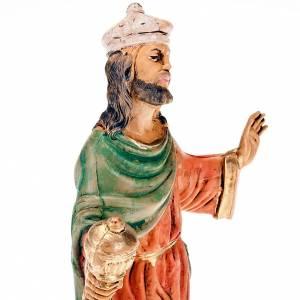 Nativity set figurine White wise man 18cm s2