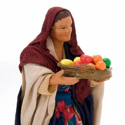 Nativity set figurine, woman with basket14 cm s2