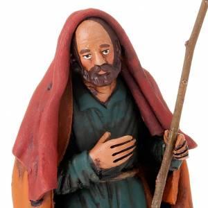 Terracotta Nativity Scene figurines from Deruta: Nativity set hand-painted 18 cm