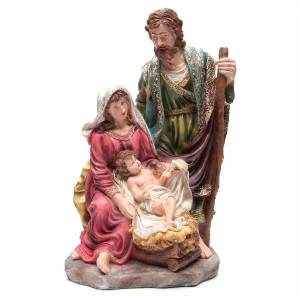 Nativity sets: Nativity set with 3 figurines in resin measuring 70cm