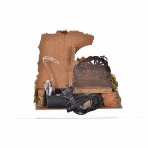 Nativity setting, drinking trough with pump and shepherd 10cm s4