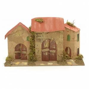 Nativity setting, farmhouses 16x28x16cm s1