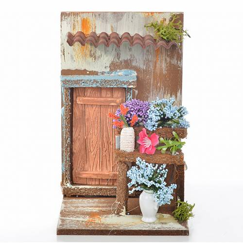 Nativity setting, florist's workshop 15x9,5x9,5cm s1