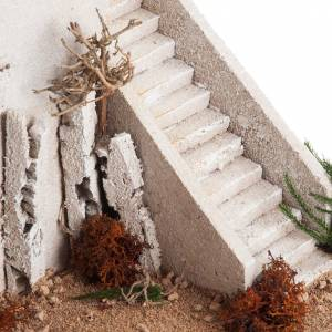 Nativity setting, minaret with dome and stairs s4