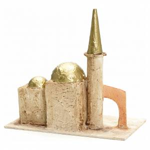 Nativity setting, minaret with tower 18x19x11cm s2