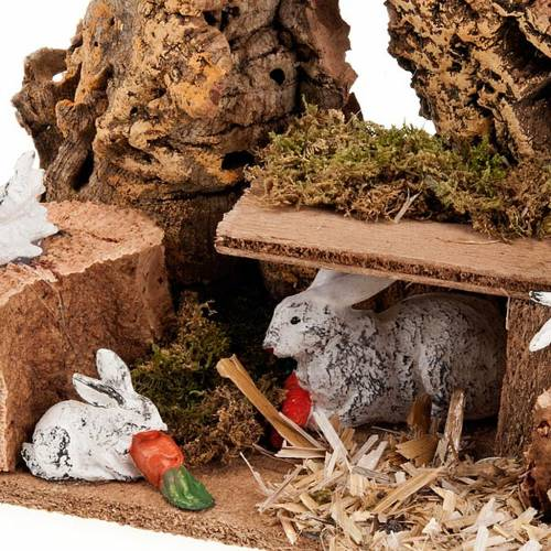Nativity setting, rabbits in the hole 2